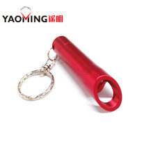 3 LED Bottle Opener Mini Pussy Aluminum Emergency flashlight Keychain Torch Light