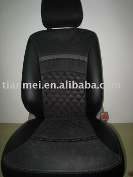 pvc auto seat cover set with diamond stitching in center part