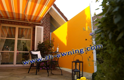 Outdoor garden decoration windproof folding screen vertical blind sun shade retractable side awning