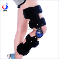 metal angle adjustable knee leg brace medical Angle adjustable knee brace Orthopedic ROM Hinged Knee Brace with FDA CE