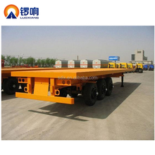 LUOXIANG Best selling 40ft tri-axle flatbed semi trailer Flat bed trailers