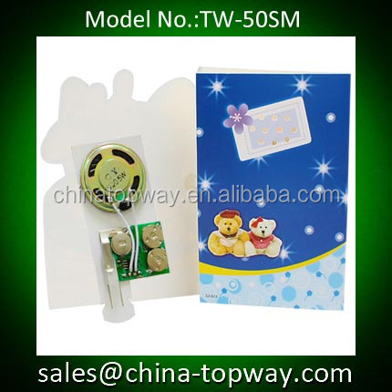 Music module for music card/sound chip for greeting card