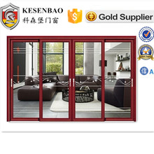 glass hotel room door aluminum frame in line sliding door system