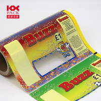 Food Grade Candy Plastic Laminating Candy Packaging Film On Roll Warp
