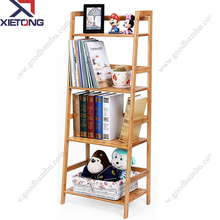 Spot Wholesale Bamboo bookshelf Wooden Book Shelf