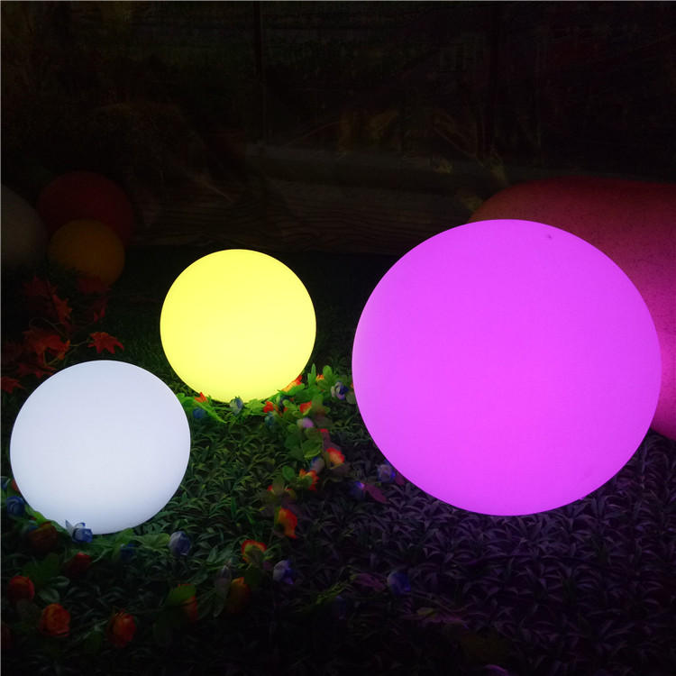 Wholesale Color Led Sphere Light Promotional Gift OEM Plastic Waterproof LED Light Ball