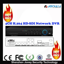 Professional H.264 4ch HD-SDI Network dvr ,4CH recording and playback