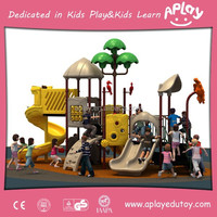 Children Outside Playground for Backyard with Long Slide