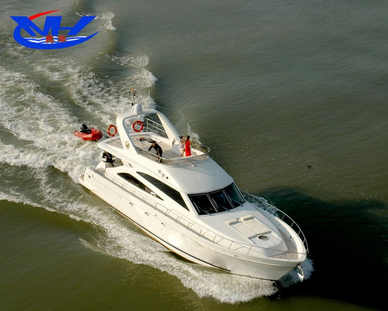 high quality 56ft fiberglass luxury yatch sport yacht made in China