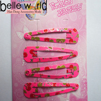 Different Types Fruit Metal Snap Hair Clips Wholesale