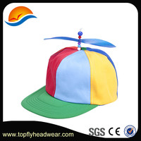 Factory price cheap custom promotion the snapback cap with propeller