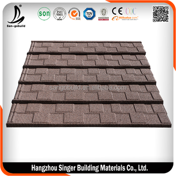 Keora type color corrugated al-zn stone coated metal roof tile /roofing sheet