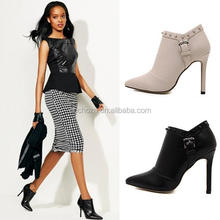 Z53083B Autumn woman shoes high heel rivets ladies shoes boots