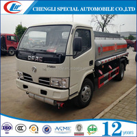 DongFeng Brand 4X2 5000L Chemical Liquid Tank Truck 5M3 Oil Storage Tank 5CBM Fuel Delivery Truck