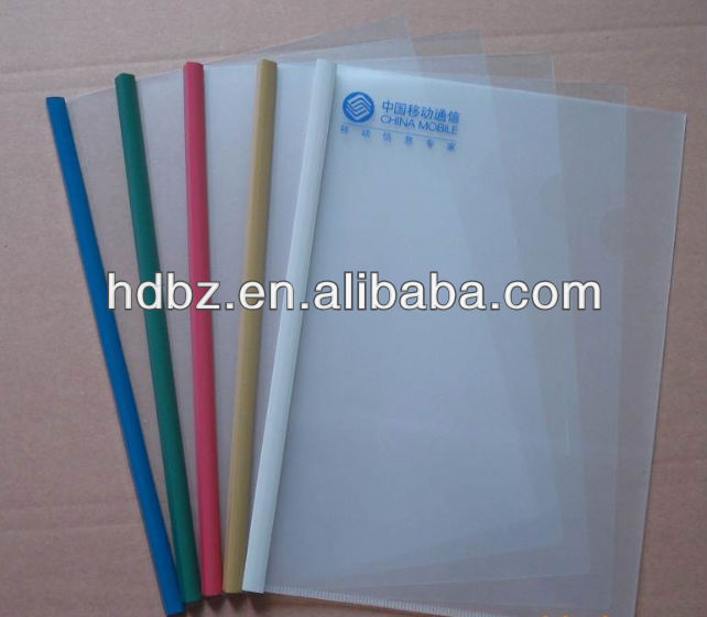 custom transparent plastic file folder box