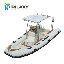 Rialxy 19ft 5.8m rigid hull inflatable boat RIB580A with Orca 828 Fabric tube and S316L Stainless Steel T-Top