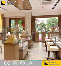Exquisite Glass Wooden Furniture Jewellery Display Showcase for Jewelry Kiosk Showcase