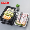 disposable food sushi tray with lid plastic sushi box