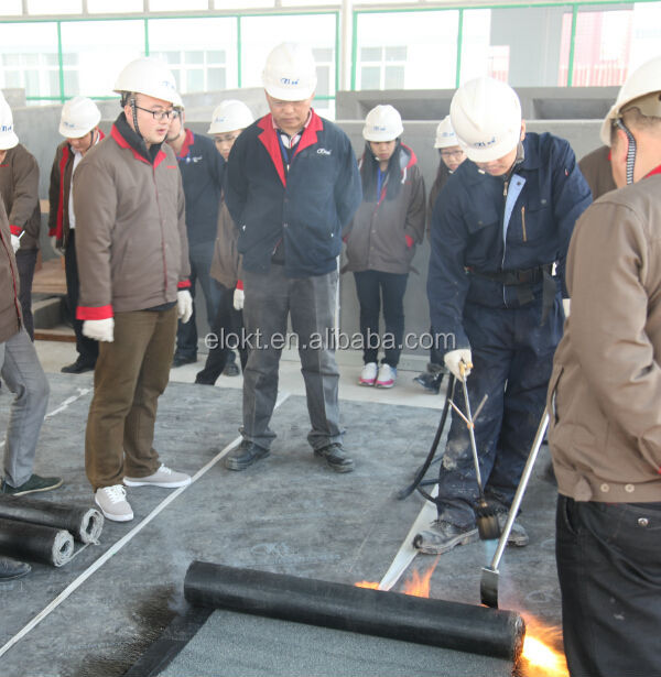 Torch on Bituminous Elastomeric Waterproof Roofing Rolls with Mineral Film