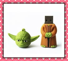 New arrival star war Yoda warrior model usb memory flash stick pen thumb drive usb gift set pendrive usb 2.0