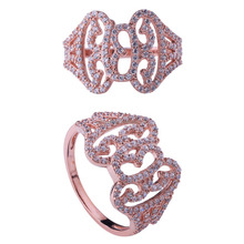 Fashion plating gold finger ring rings design for women with price reasonable