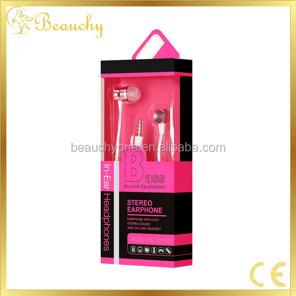 New magical flat cable cheap earphones with mic earphone with spiral cable