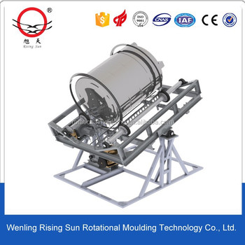 open flame rock n roll rotational molding machine,rotomoulding machine