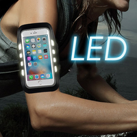 Reflective LED Running Armband Arm Band Case For Samsung Galaxy S4