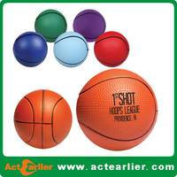 cheap basketball pu foam stress ball for promotion