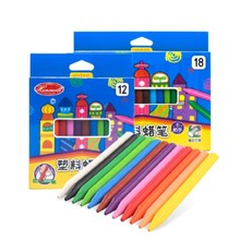OEM Non-toxic food grade wax colored washable & erasable unsticky plastic crayons