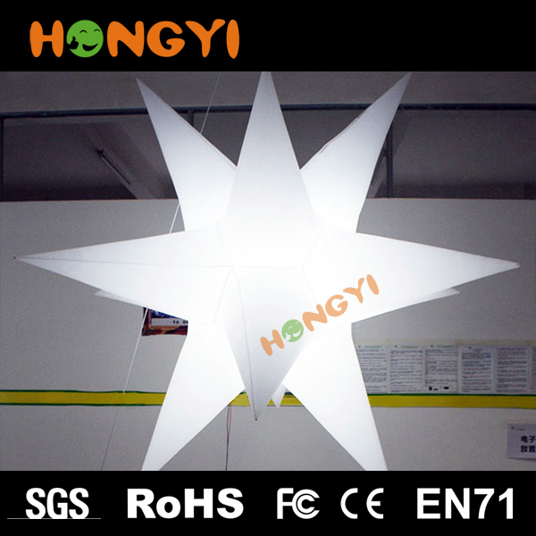Hot-Selling Party Club wedding Decoration Giant Inflatable LED Illuminated Star PVC hanging hotel Lighting Star