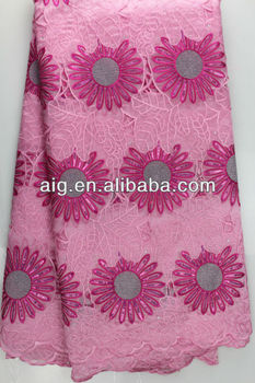 African French Lace,Net Lace Fabric, Handcut Voile Lace,2929, PINK