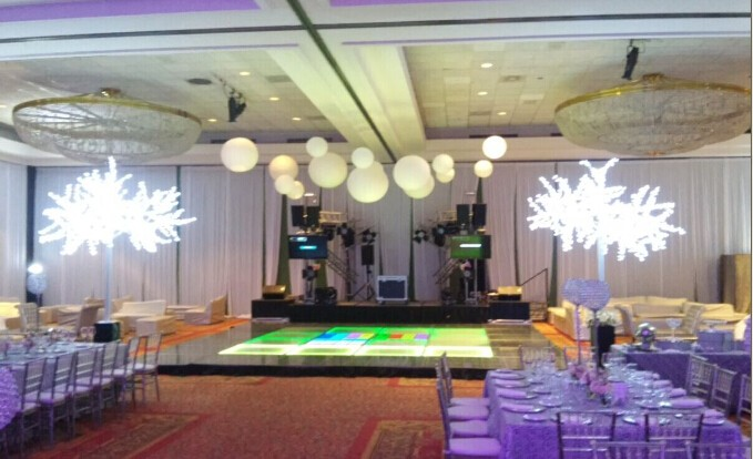 High simulation led lighted white cherry tree for wedding decoration