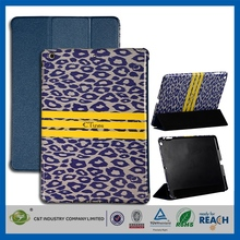 C&T 2014 Fashion design quality leather pu cover for apple ipad air cases
