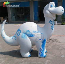 intersting cartoon fiberglass dinosaur statue