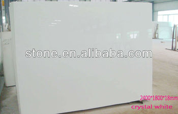 Pure White Marmoglass Crystallized White Glass Panel