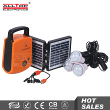 Factory directly selling mini solar system home lighting kit with radio