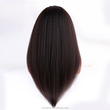 Top quality yaki straight Long Hair Human u part Wigs, brazilian virgin hair u part wigs, Fashion Women U part wigs tangle free