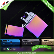 Smart Metal USB Rechargeable Electronic lighter Double arc usb lighter rechargeable battery electric lighter