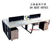 modern office furniture 4 person office desk, 4 person office workstation
