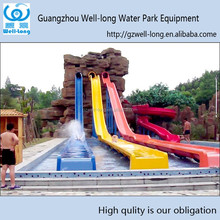 Outdoor play equipment high speed long fiberglass water slides customized color and size available made in china manufacturer
