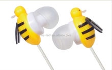 Novelty Animal Shape honeybee pleastic Earphone for MP3