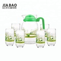 New Design printing good quality 7pcs glass jug set