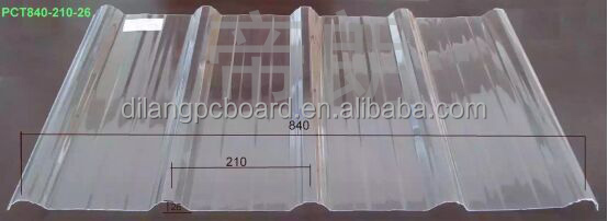 PC Corrugated sheet/pc wave sheet/pc transparent roofing sheet