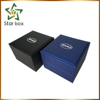 Quality pu leather watch box pvc gift watch packaging box