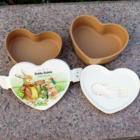 Promotional Gift Heart Shape Nesting Professional Japan Style Bento Box with Lid