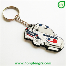 Advertising custom made keyring for promotion, wholesale cheap 2d 3d soft pvc custom rubber keychain