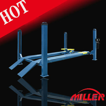Low price ! wheel alignment 4 post car lift with jack