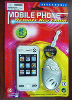 Battery operated Mobile phone with remote keychain
