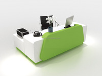 Solid surface modern office front reception desk counter design